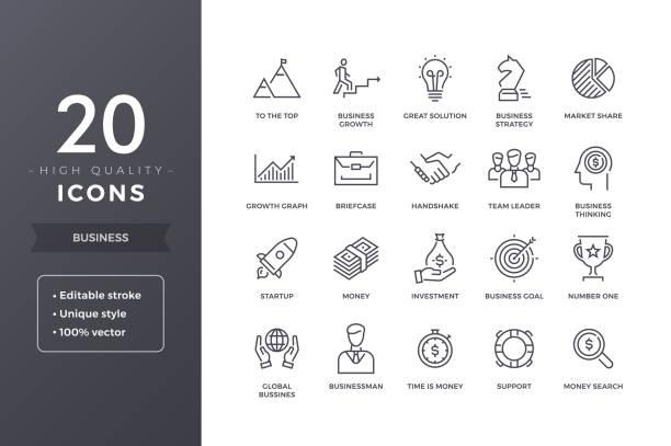 業務線圖示 - 商務 幅插畫檔、美工圖案、卡通及圖標