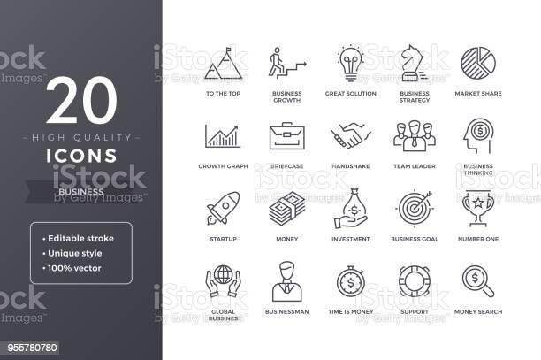 Business Line Ikoner-vektorgrafik och fler bilder på Affärsman