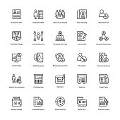 Business Line Vector Icons 4