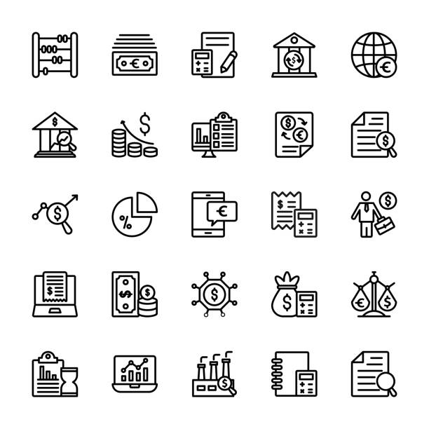 Business Line Vector Icons - Illustration vectorielle