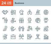 Business - line vector icons