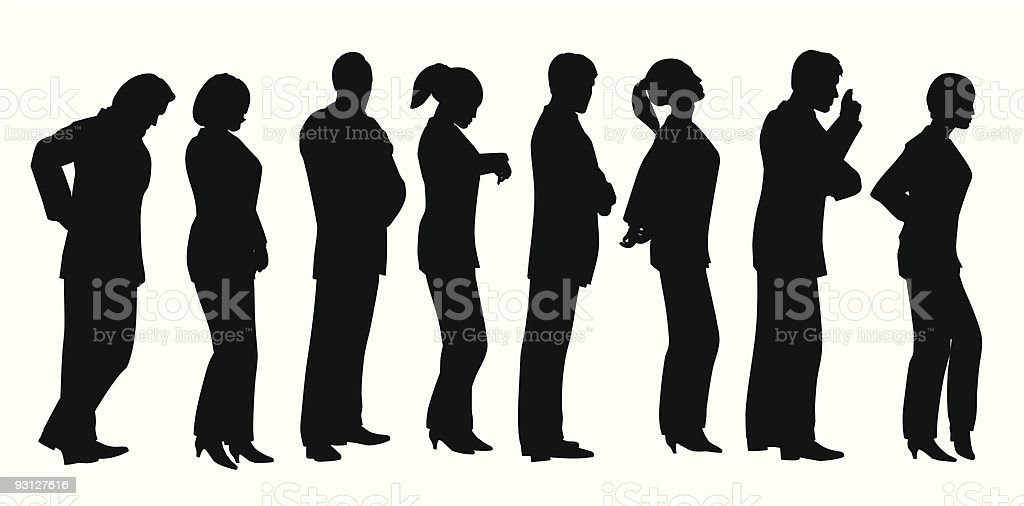 business lineup vector art illustration