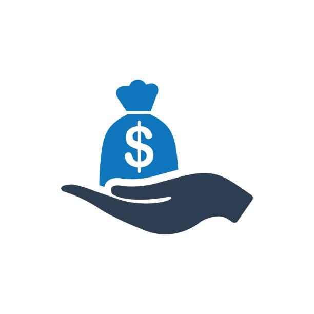ilustrações, clipart, desenhos animados e ícones de empréstimo de negócio ícone - empréstimo