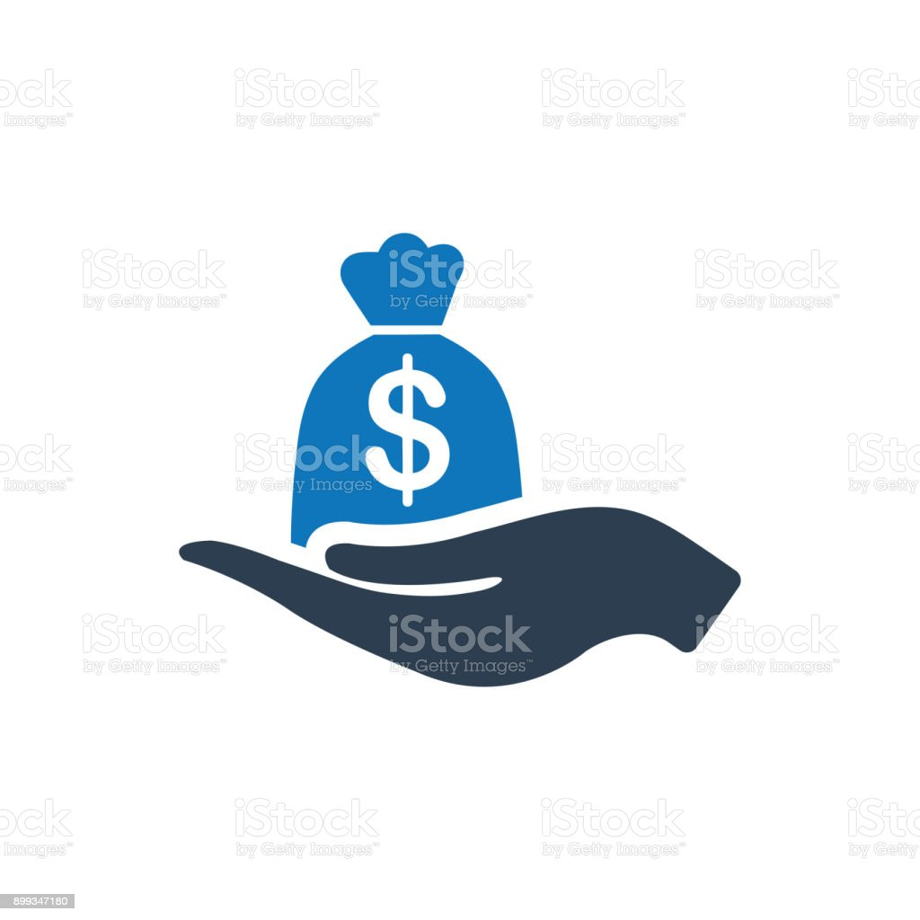 Business loan Icon vector art illustration