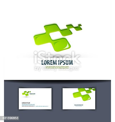 istock Business. Logo, icon, emblema, sign, template, business card 531596853
