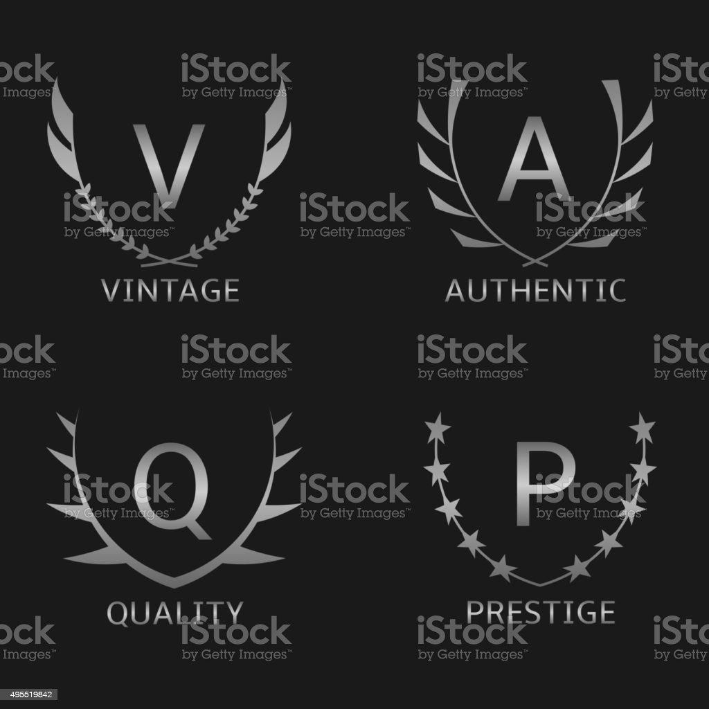 Business logo set vector art illustration