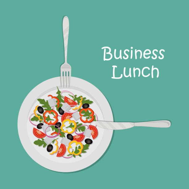 Royalty Free Lunch Meeting Clip Art, Vector Images ...