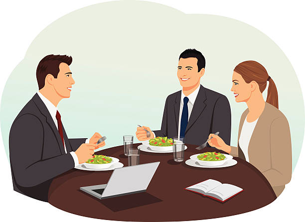 Best Business Lunch Illustrations, Royalty-Free Vector ...