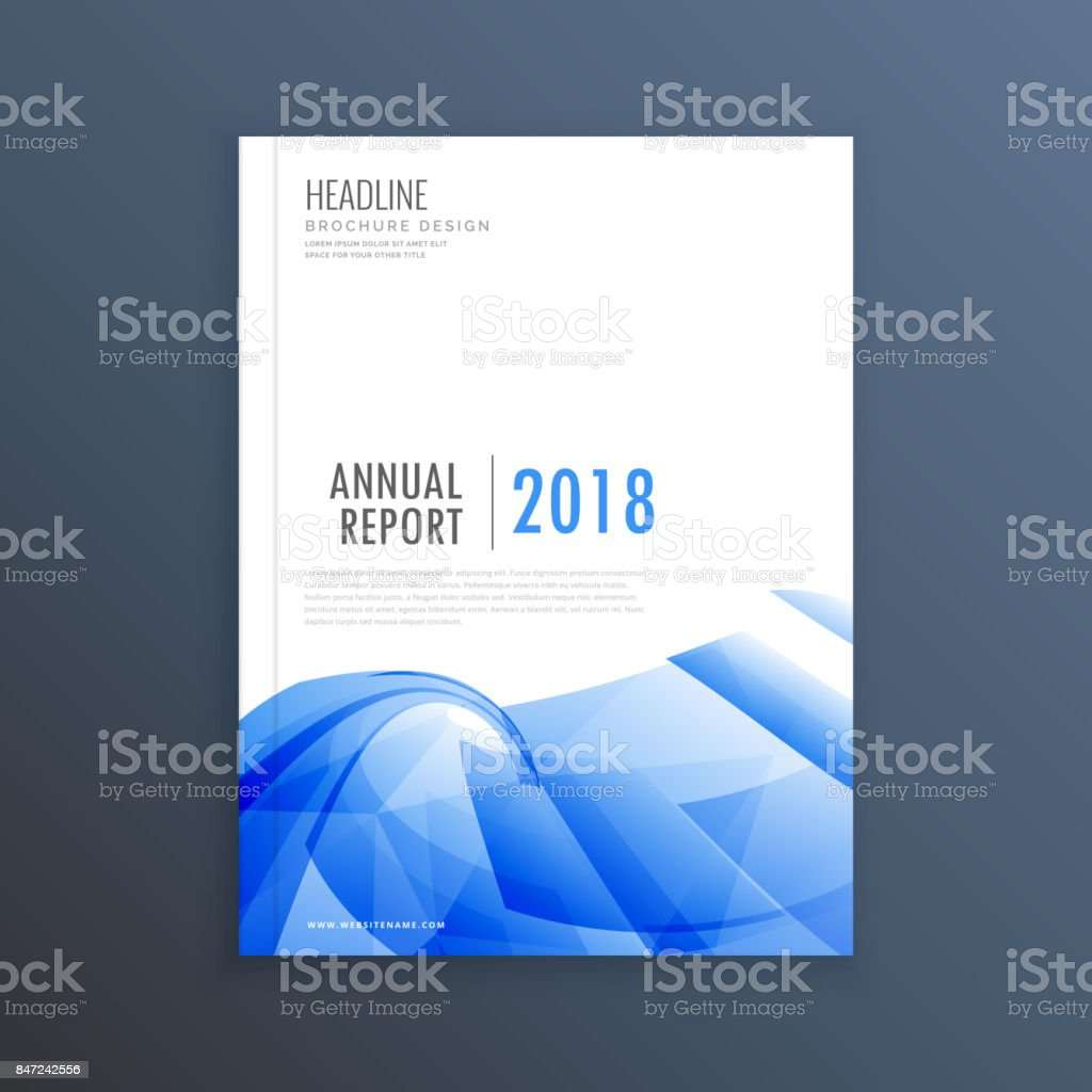 Business Magazine Cover Page Design In Blue Abstract Shape Stock Illustration Download Image Now Istock