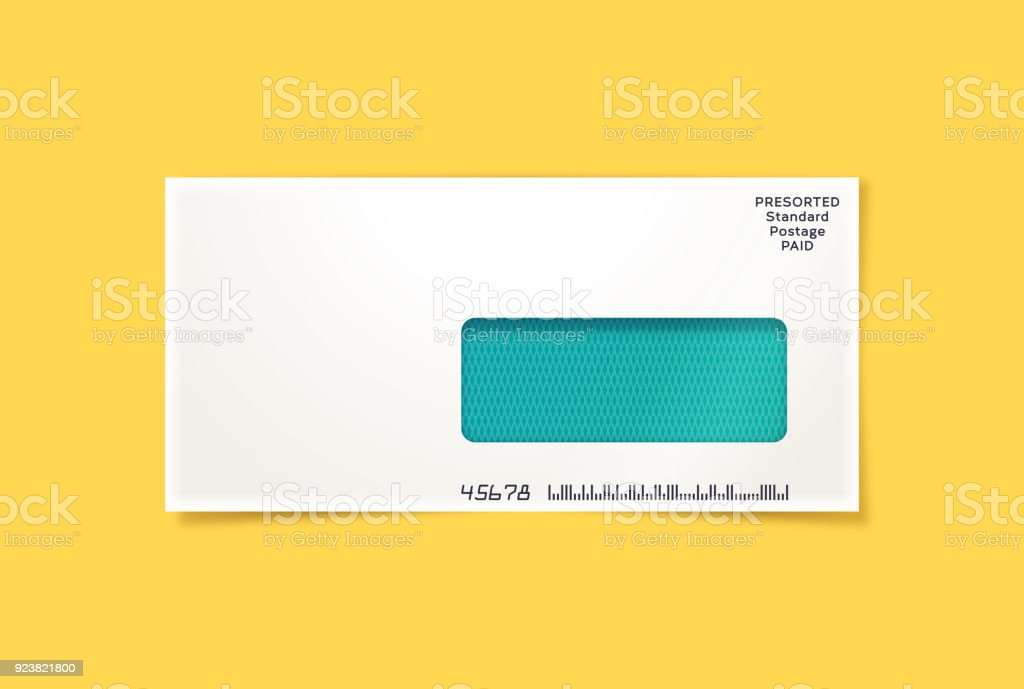 Business Mailing Envelope vector art illustration