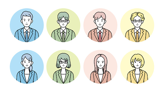 Business man and woman illustration
