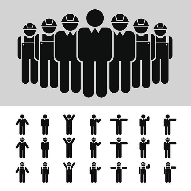 ビジネスの男性は、建築家、技術者、作業、アイコンのセットです。 - 建設作業員点のイラスト素材/クリップアート素材/マンガ素材/アイコン素材