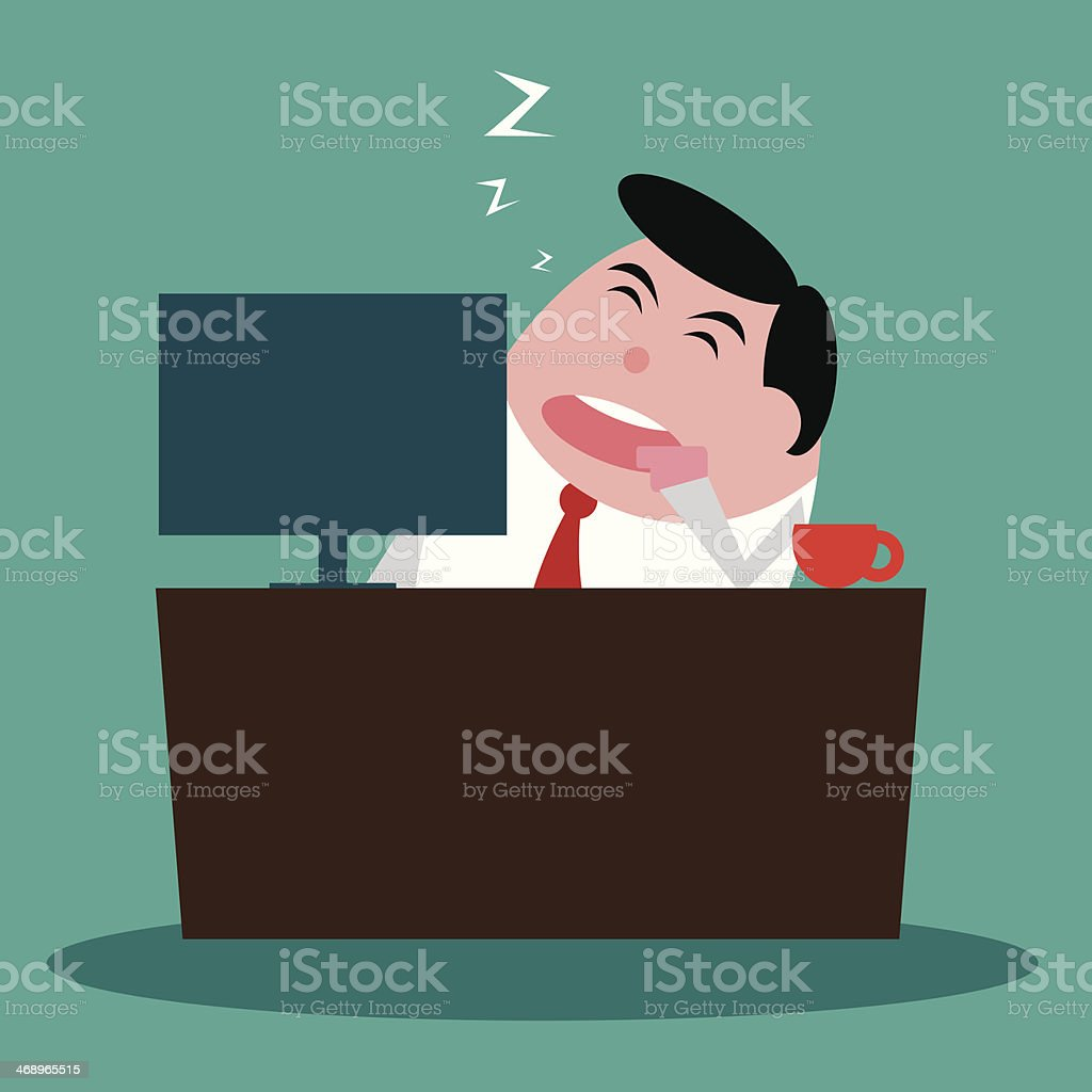 business man are sleeping at office vector royalty-free stock vector art