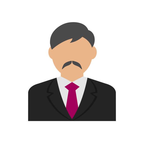 ilustrações, clipart, desenhos animados e ícones de ilustração de avatar de homem de negócios - ceo