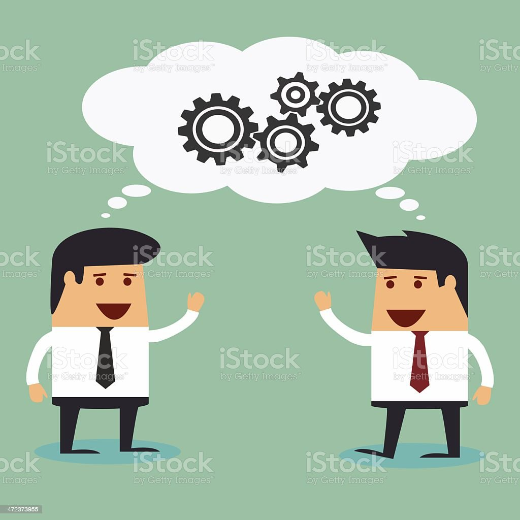 Business man brainstorming royalty-free stock vector art