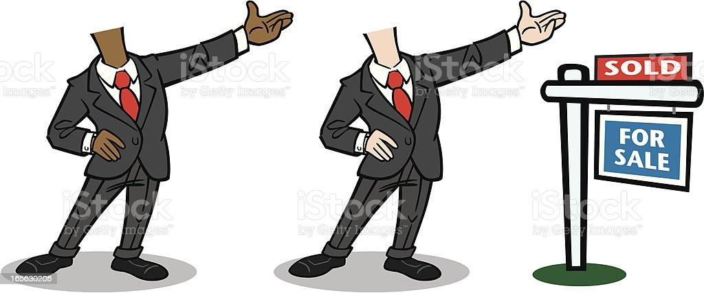 Business Man Cartoon royalty-free stock vector art