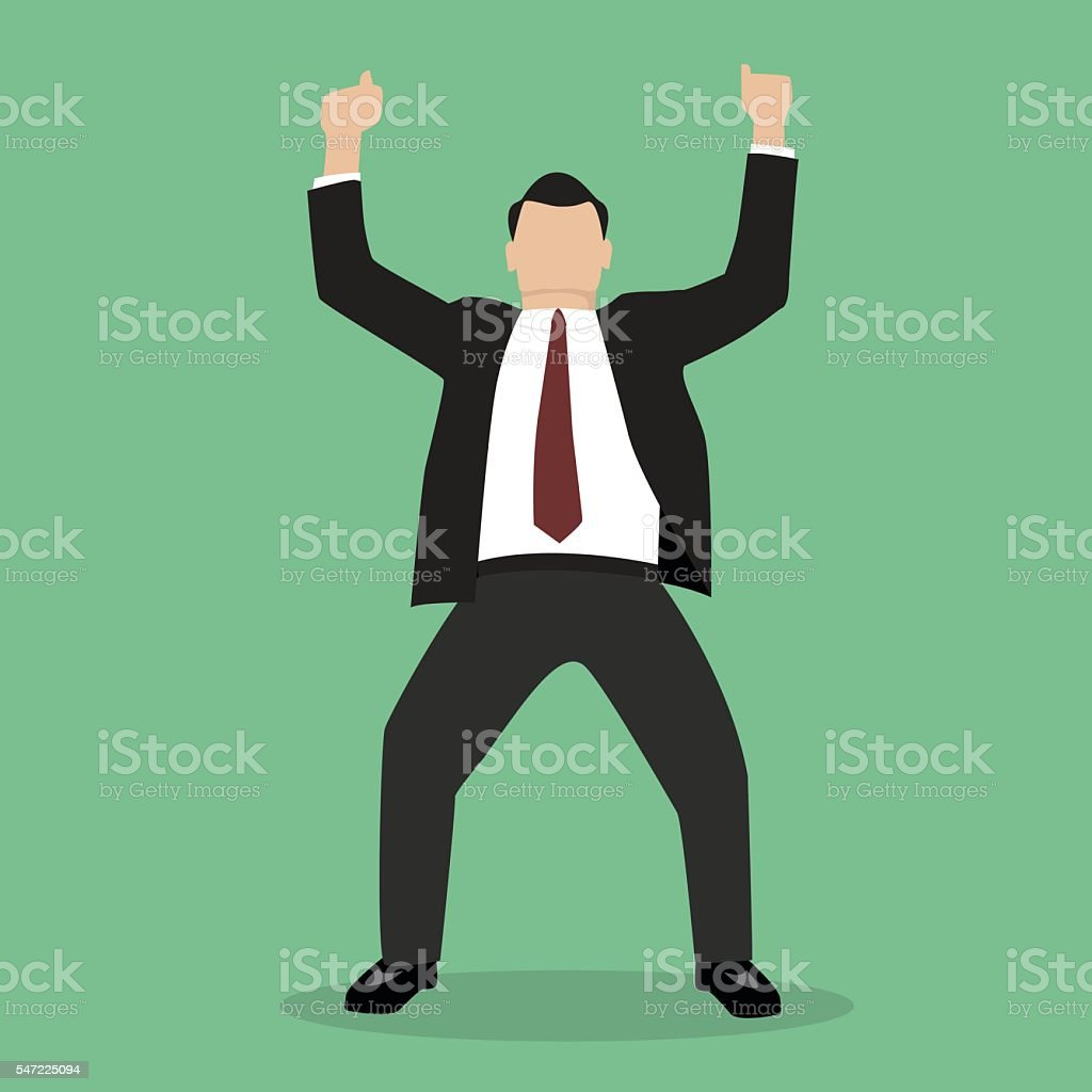 Business Man Celebrating vector art illustration