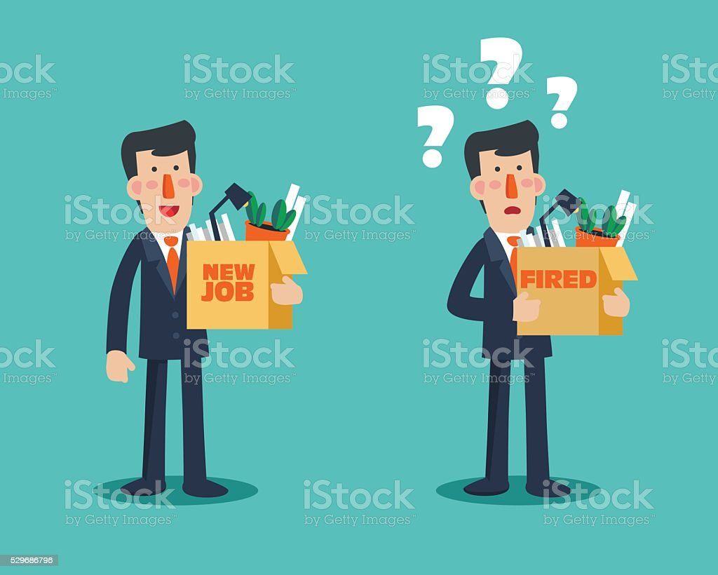 Business man characters in various poses and situations vector art illustration