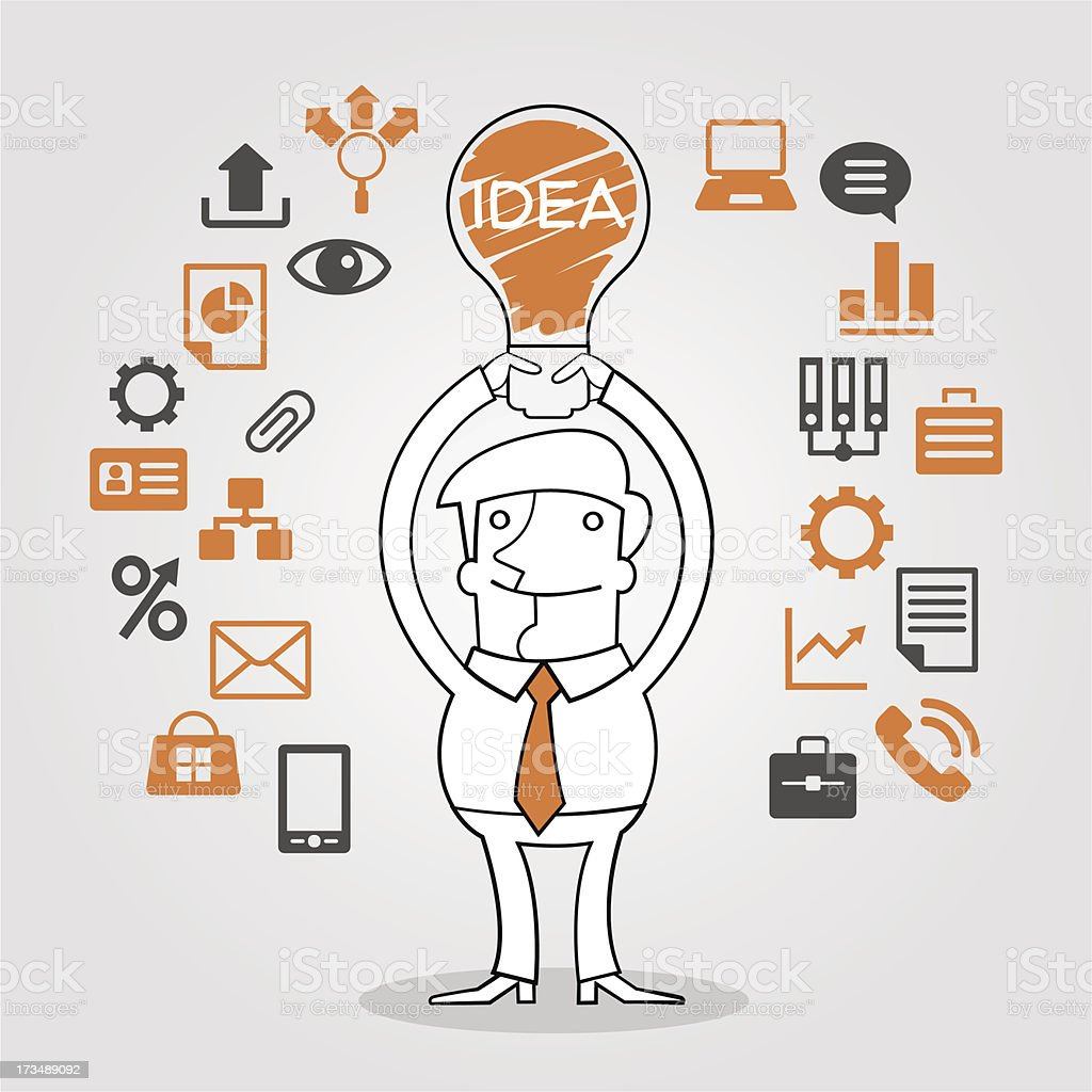 Business man concept idea royalty-free business man concept idea stock vector art & more images of abstract