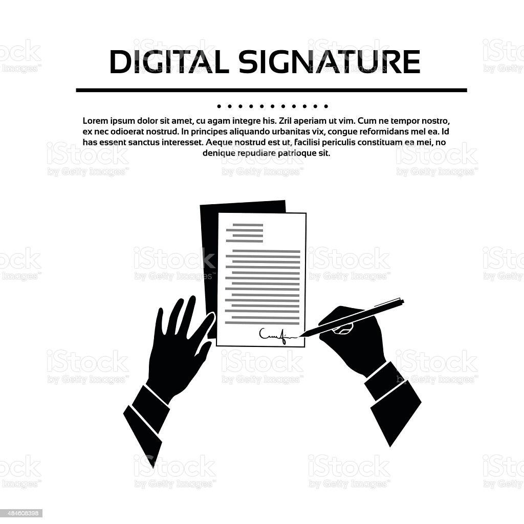 Business Mann Hand Dokument Charakteristischen Schwarze Silhouette ...