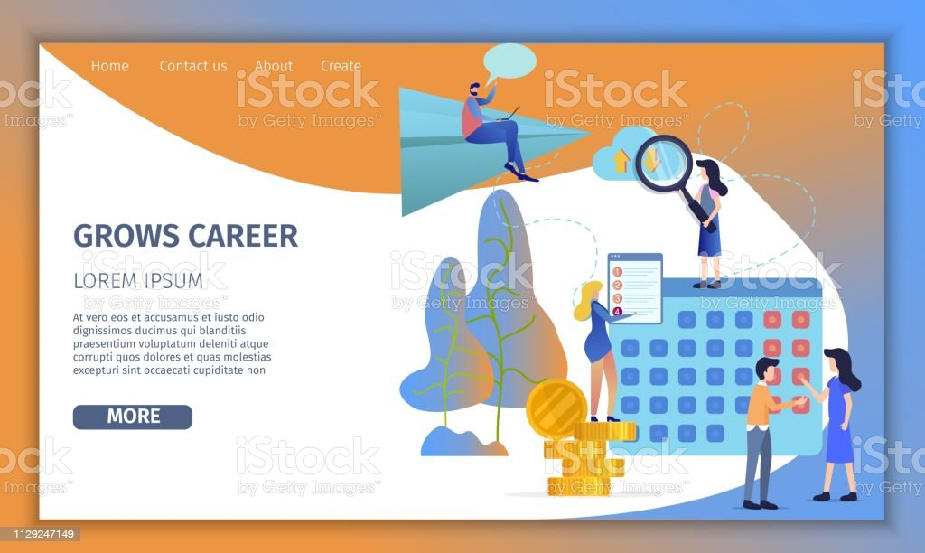 Business Man Grow Up Corporate Career Banner Stock Illustration Download Image Now Istock