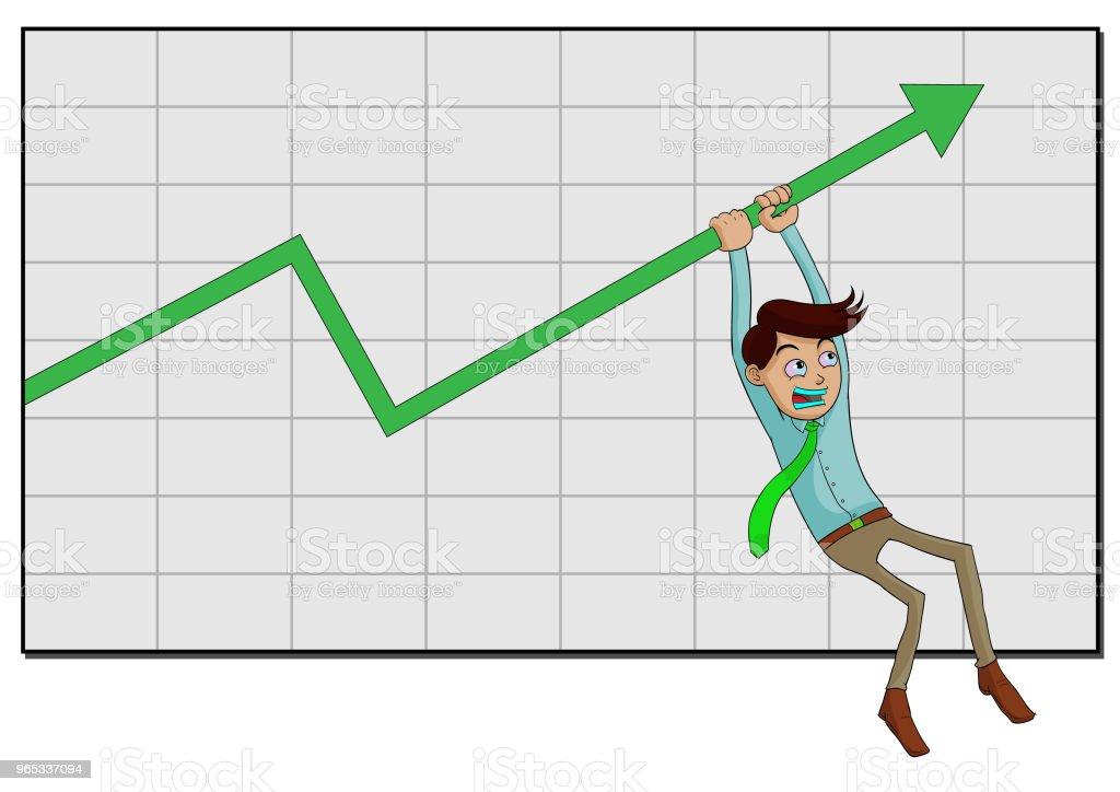 business man hold the line trend up business man hold the line trend up - stockowe grafiki wektorowe i więcej obrazów akcjonariusz royalty-free