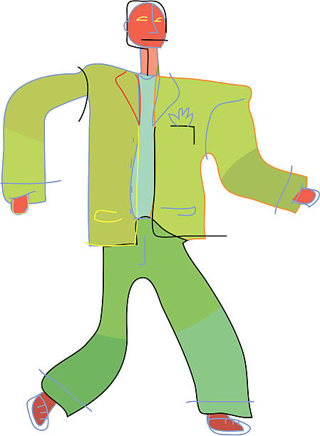 Business man in suit vektorkonstillustration