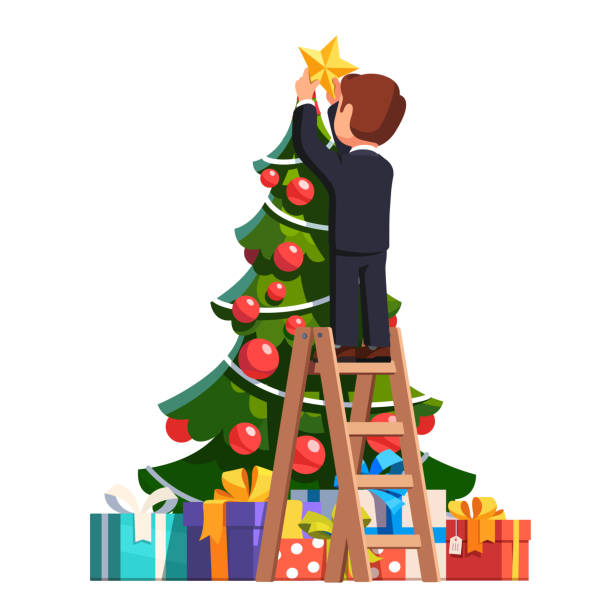 Christmas Tree Topper Illustrations Royalty Free Vector Graphics