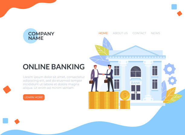 Business man people characters shaking hands. Banking deal contract web banner loading page concept. Vector flat cartoon graphic design isolated illustration vector art illustration