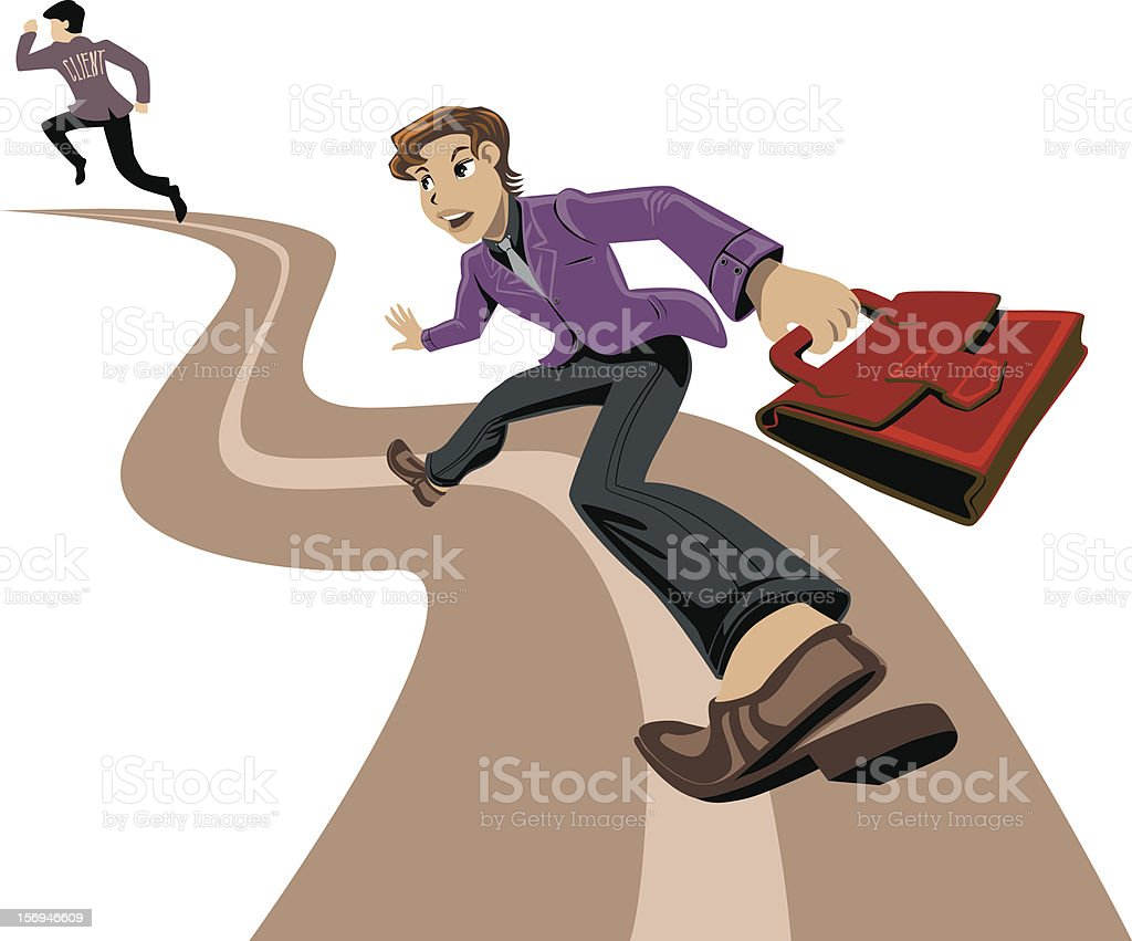 Business Man runs after a client royalty-free business man runs after a client stock vector art & more images of activity