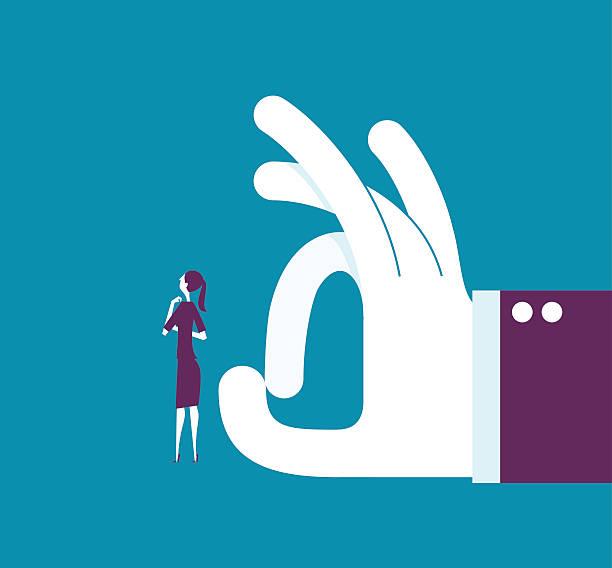 illustrazioni stock, clip art, cartoni animati e icone di tendenza di business man shoots with his finger off a woman - mano donna dita unite