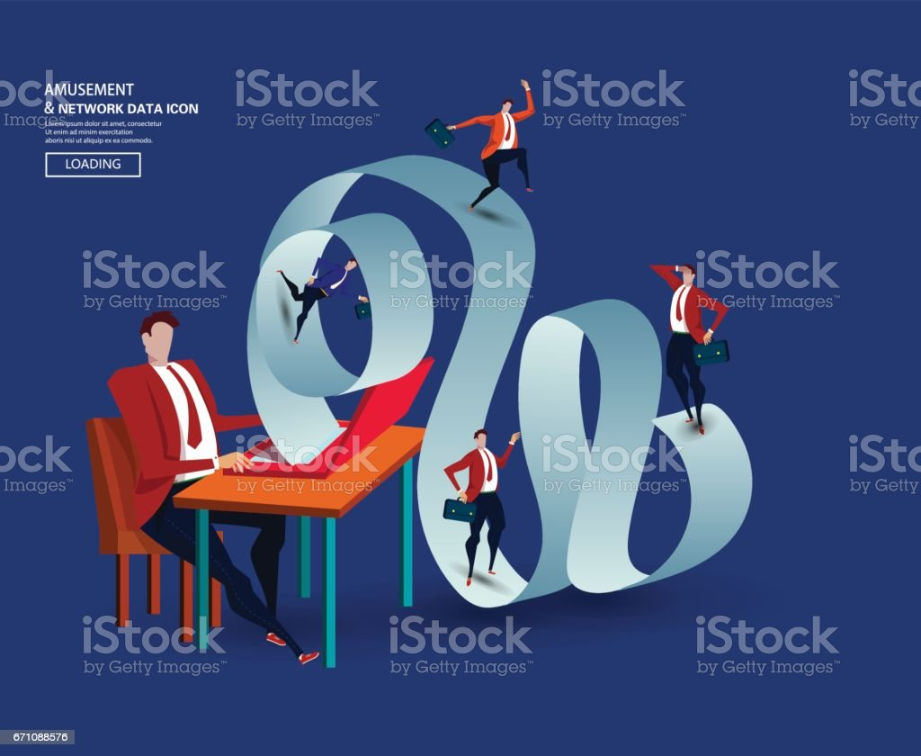Business man vector art illustration
