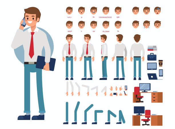 illustrazioni stock, clip art, cartoni animati e icone di tendenza di business man - business man