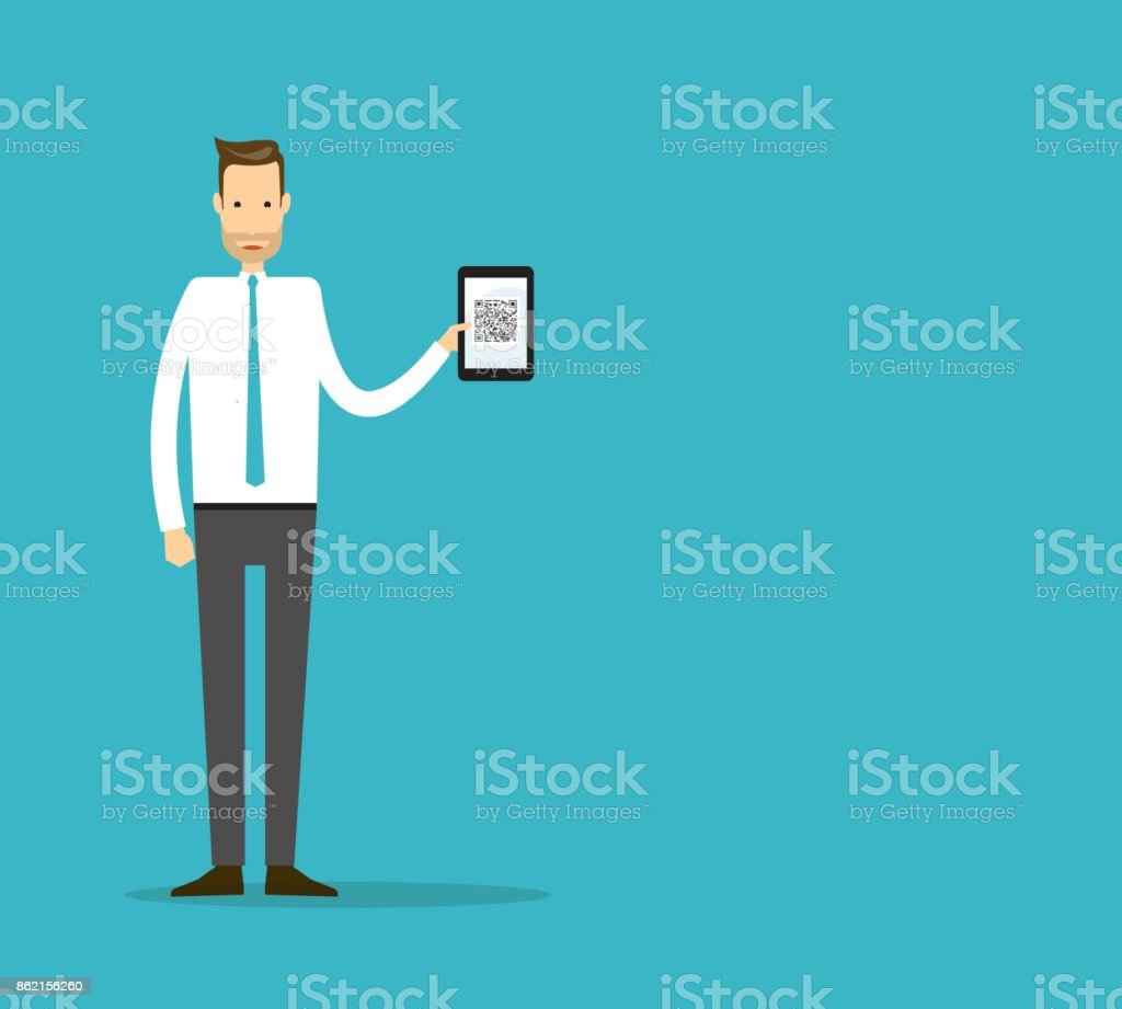 business man with mobile and business cartoon character  design concept vector art illustration