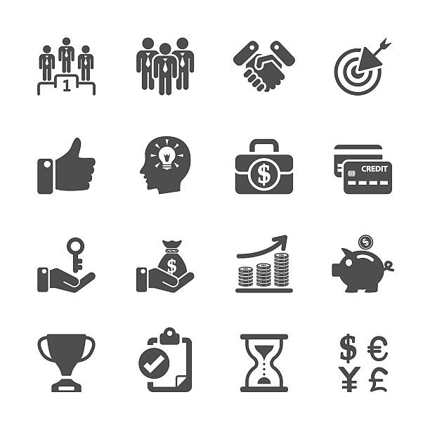 business management and human resources icon set, vector eps10 business management and human resources icon set, vector eps10.. vertebrate stock illustrations