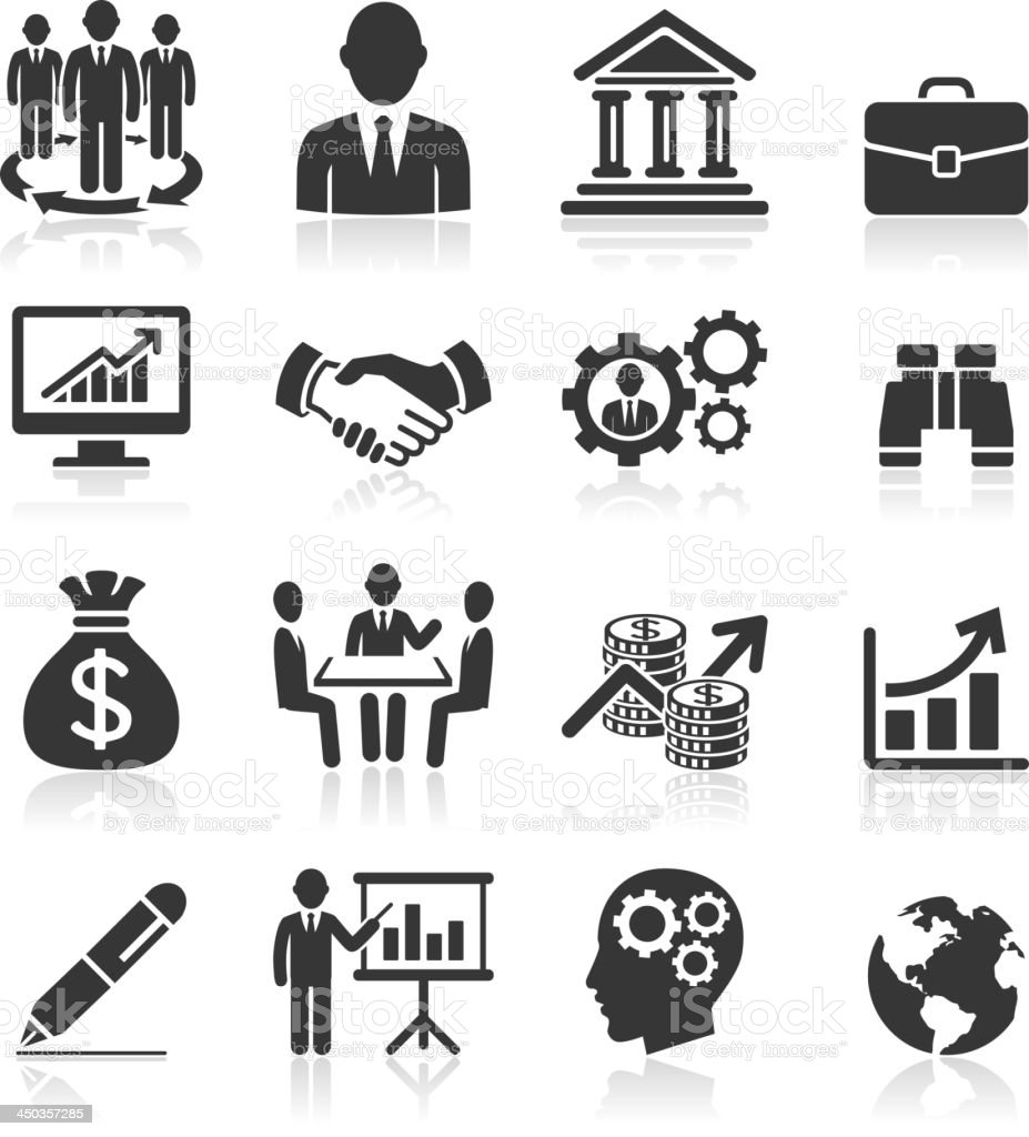 Business management and human resources icons. vector art illustration