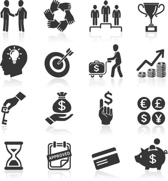 Business management and human resources icons. Business management and human resources icons.  human head stock illustrations