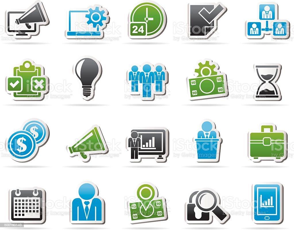Concepto de gestión de iconos de negocios - ilustración de arte vectorial