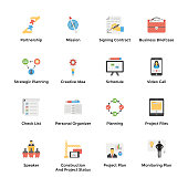 This is work management flat vector icons pack having graphics related to team management, project management, project planning, teamwork, prototype, business report and many more. Hold this attractive and useful pack in related subjects.