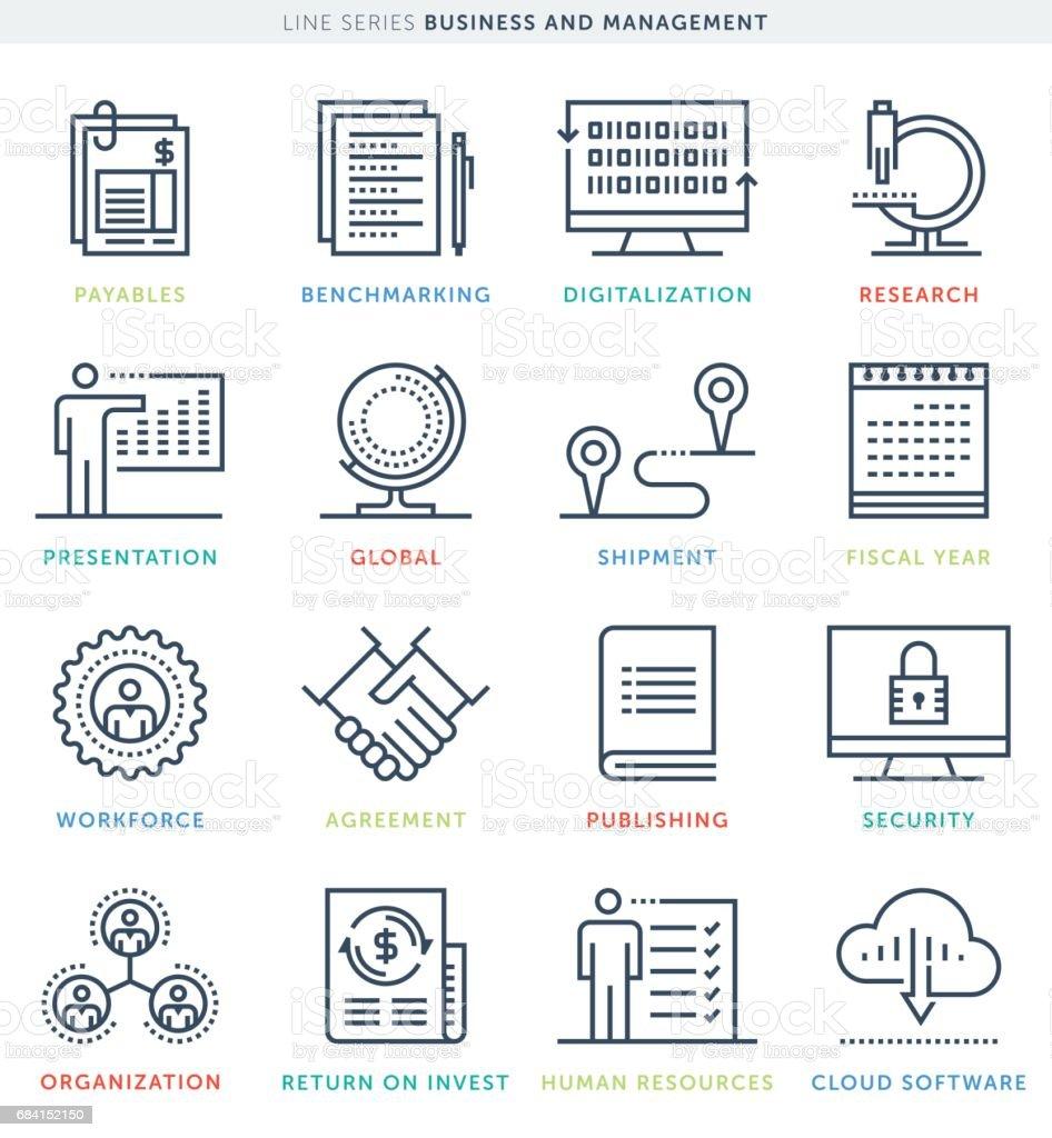 Business Management Icon Set business management icon set - stockowe grafiki wektorowe i więcej obrazów badania royalty-free