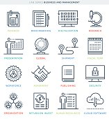 Line Style Vector Illustrations for Business Management