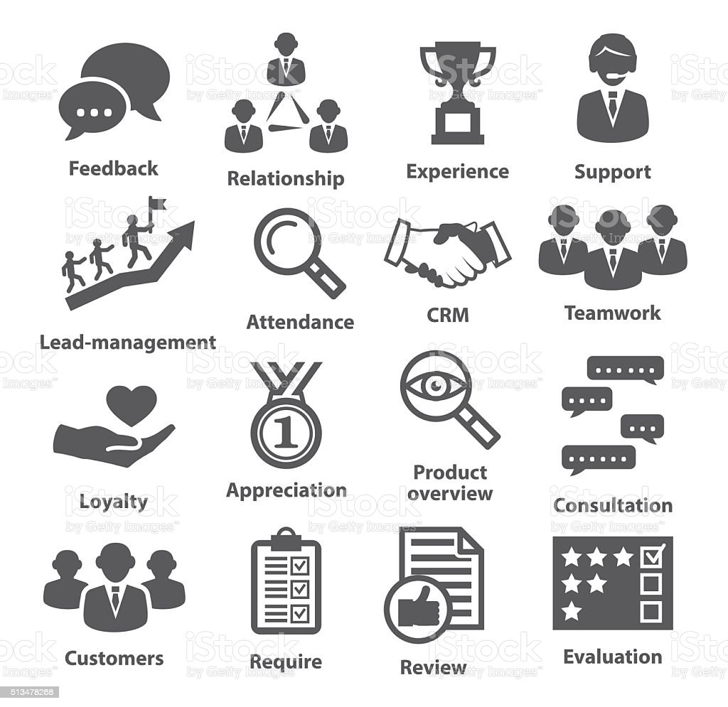 Business management icons. Pack 03. vector art illustration