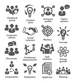 Business management icons. Pack 14.