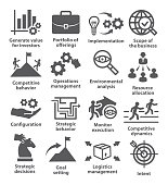Business management icons. Pack 15.
