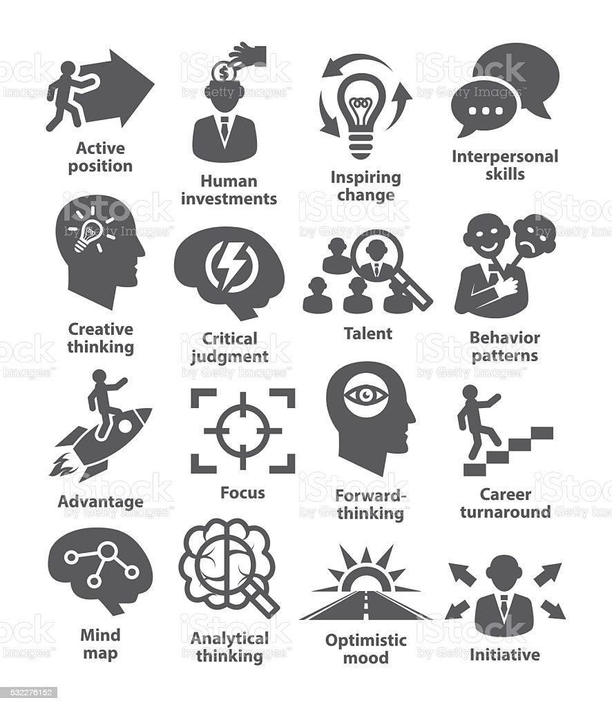 Business management icons. Pack 19. vector art illustration