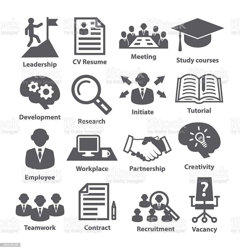 Business management icons. Pack 20. vector art illustration