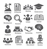 Business management icons. Pack 20.