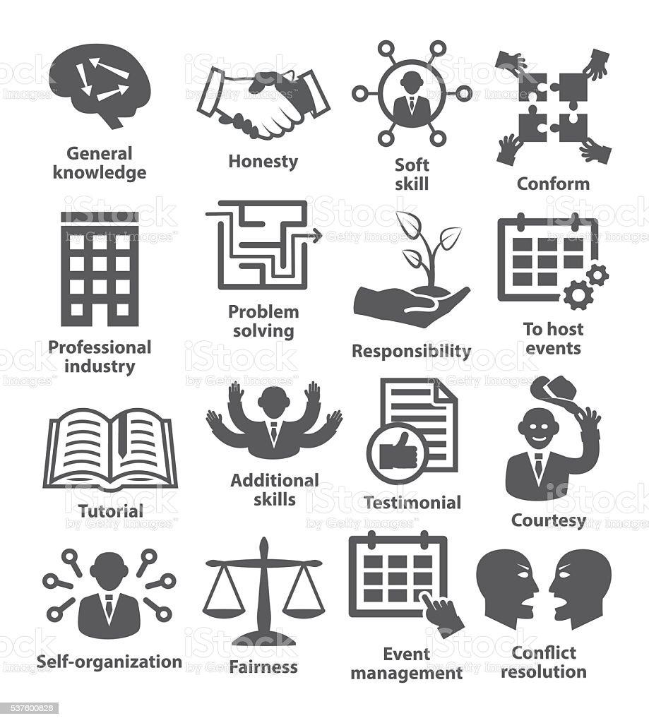 Business management icons. Pack 22. vector art illustration
