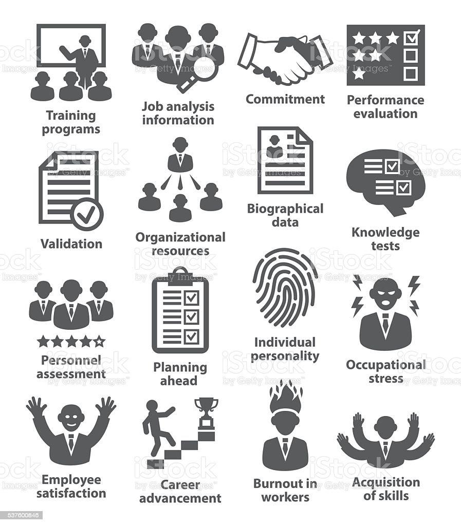 Business management icons. Pack 23. vector art illustration