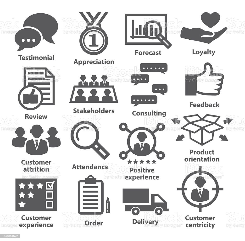Business management icons. Pack 26. vector art illustration